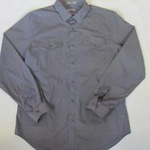 Nwot Express Cast Iron Western Modern Fit Men's Dress Shirt L Photo