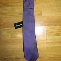 Nwot Express Classic Silk Solid Iridescent Purple Men's Tie Photo