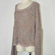 Nwot Express Colorful Back Cutout Scoop Neck Oversized Pullover Sweater Women M Photo