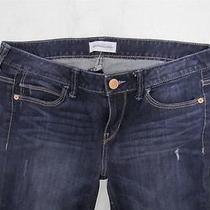 Nwot Express Dark Wash Modern Boyfriend Distressed Jeans Sz 4 Photo