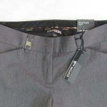 Nwot Express Editor Original Gray Pants 00r Photo
