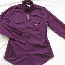 Nwot Express Egg Plant Mk2 Modern Fit Men's Dress Shirt Xs Photo