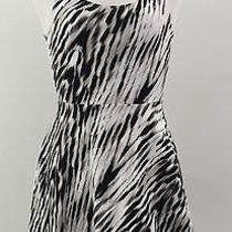 Nwot Express Extra Small Zebra-Print Black & White Sun Dress Excellent Condition Photo
