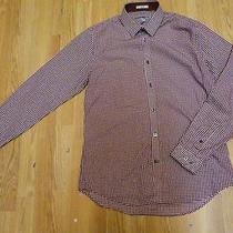 Nwot Express Fitted Polka Dot Men's Dress Shirt Sz M- Photo