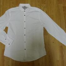 Nwot Express Fitted White Men's Dress Shirt L- Photo