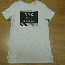 Nwot Express Heather Gray Nyc Plate Graphic Men's Tee Sz S- Photo