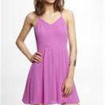 (Nwot Express Light Violet Halter Slip Dress Sz 4) Photo