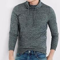 Nwot Express Marled Funnel Neck Side Zipper Men's Sweater Sz M- Photo