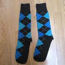 Nwot Express Men's Argyle Dress Socks Sz 8-12- Photo