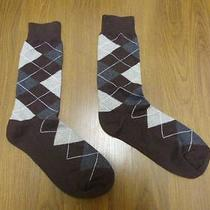 Nwot Express Men's Gray Argyle Dress Socks Sz 8-12- Photo