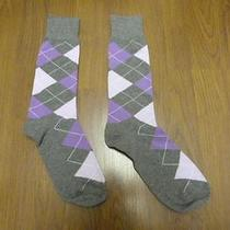 Nwot Express Men's Lilac/lavender Argyle Dress Socks Sz 8-12- Photo