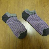 Nwot Express Men's Purple Stripe Socks Sz 8-12- Photo