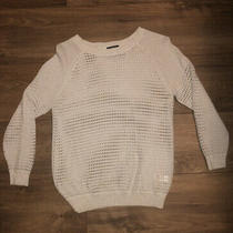 Nwot Express Metallic Mesh Sweater Size Xs Photo
