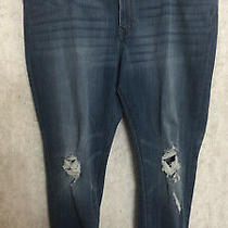 Nwot Express Mid-Rise Legging Distressed Jeans Size 18s Short Photo