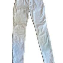 Nwot Express Mid Rise White Legging Jeans Size 2r Photo