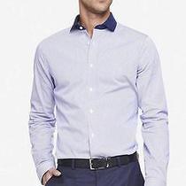 Nwot Express Modern Fit Striped Men's Dress Shirt Sz L- Photo
