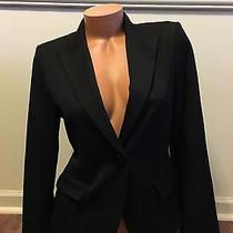 Nwot Express One Button Blazer Jacket Women's Size 6 Black Very Nice Photo