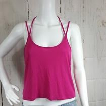 Nwot Express One Eleven Womens S Pink Tank Top Halter Spaghetti Strap Low Back Photo