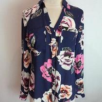 (Nwot Express Original Fit Floating Floral Portofino Shirt Sz Xs) Photo