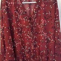Nwot Express Portofino Lace-Up Crop Top Photo