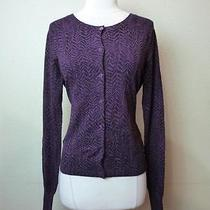 -Nwot Express Printed Long Sleeve Button Down Cardigan Sz S- Photo