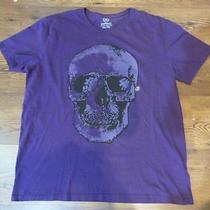 Nwot Express Purple Skull Graphic Men's Tee Sz Xxl- Photo