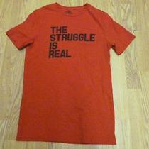 Nwot Express Red the Struggle Is Real Graphic Men's Tee Sz Xs- Photo