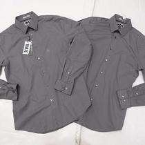 Nwot Express Set of Two 1mx Cast Iron Fitted Men's Dress Shirt Sz M Photo