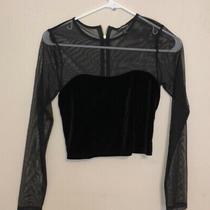 Nwot Express Sheer Velvet Crop Top Size Xs Photo