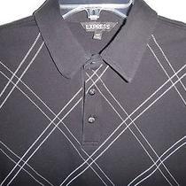 Nwot Express Short Sleeve Polo Size S Black Photo