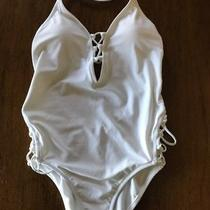 Nwot Express Strappy Plunging Swimsuit White Sz Small- 69.90 Stunning Photo