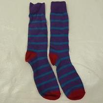 Nwot Express Striped Men's Dress Sockssz 8-12- Photo