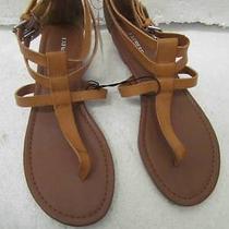 Nwot Express Tan Strappy T-Strap Sandal Sz 7 Photo