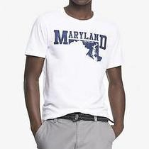 Nwot Express White Crew Neck Maryland Graphic Men's Tee Xs- Photo