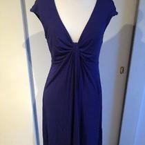 Nwot Express Women Blue Short Sleeve Knit Off-the-Shoulder v-Neck Dress Size M Photo