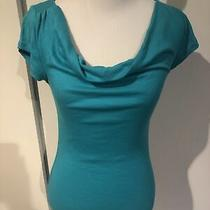 Nwot Express Women's Sexy Basic Teal Aqua Cowl Neck T-Shirt Top Size Small S Photo