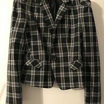 Nwot Express Womens Plaid Blazer Pockets Size 4 Photo