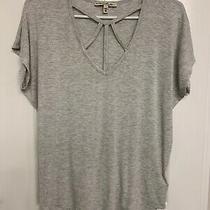 Nwot Express Xxs Hi-Low Strappy Chest Short Sleeve Shirt Gray 39.99 Free Ship Photo
