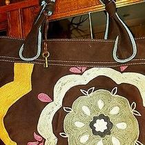 Nwot Fossil Tote Canvas Large Euc  Photo