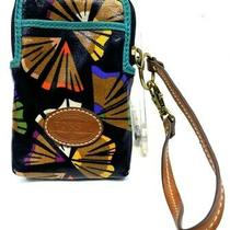 Nwot Fossil Wallet Wristlet Smartphone Multicolor Teal Artist Small Photo