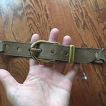 Nwot Fossil Women's Leather Segment Belt Size Medium Sand Photo