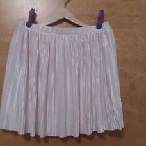 Nwot Frenchi Pleated Pearl Blush Pink Mini Skirt Size L Photo