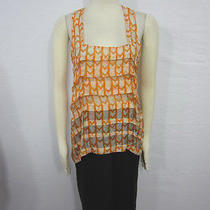Nwot Funktional Geometric Print Semi Sheer Sleeveless Layered Trendy Tank Top S Photo