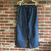 Nwot Gap  Polka Dot/striped Blue/white /green  Waist Drawstring Lounge Pants  M Photo