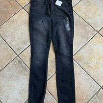 Nwot Gap Women's Faded Black Wash Denim Legging Jeans Skinny Superstretch Sz 25s Photo