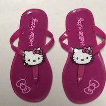 Nwot Girls Jelly Plastic Sandals Hello Kitty 11 12 Dark Pink Photo