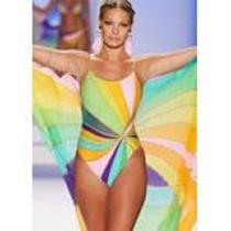 Nwot Gottex Rainbow  Strapless   Swimsuit 8  Photo