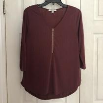 Nwot Green Envelope Los Angeles Shirt Size Medium Dark Blush Pink Photo