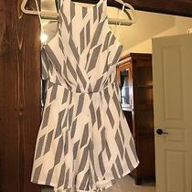 Nwot Grey and White Romper Size Xs Camilla Crown Photo