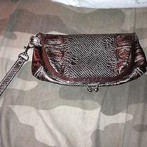 Nwot Guess Metallic Snakeskin Wristlet Photo